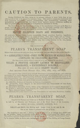 Advert for Pear's Shaving Soap, reverse side